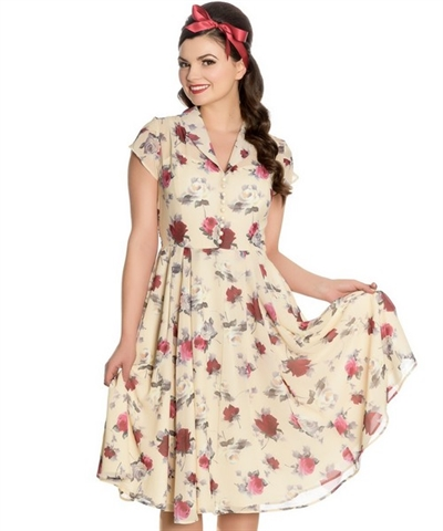 Rockabella Leah Dress Cream
