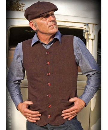 Rockabella Rumble59 Vest brown t